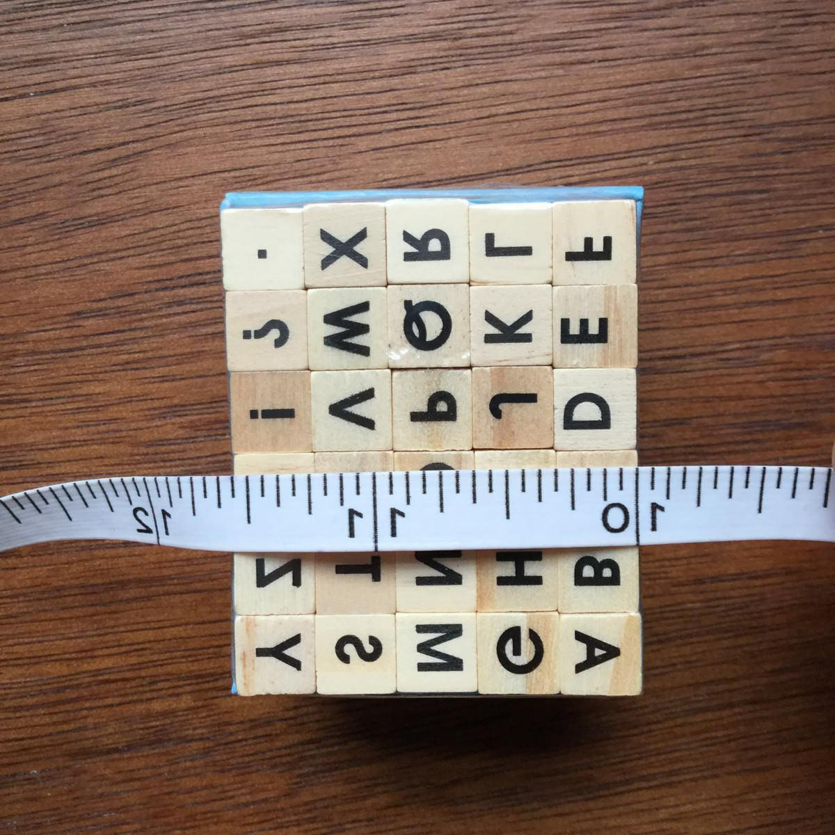 Alphabet Set Mini Wood Mounted for Planners