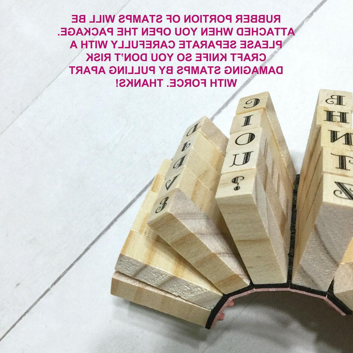 "Alphabet Letters Mini Stamp 1/4"" Wood Crafts"