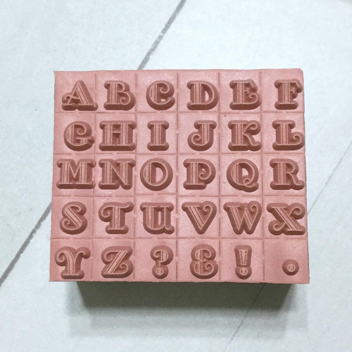 "Alphabet Letters Stamp Set 1/4"" Wood Planners"