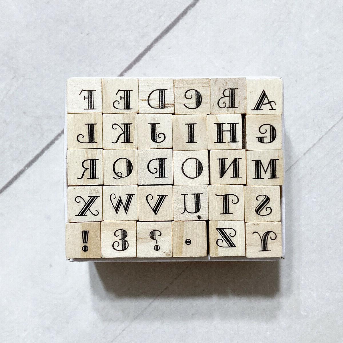 alphabet letters rubber stamp set 30 mini