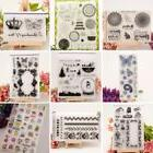 Alphabet Transparent Silicone Clear Rubber Stamp Cling Diary