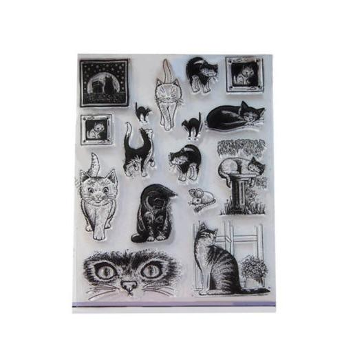 Animal Decoration Paper Stamp Seal Clear Album DIY Rubber Ru