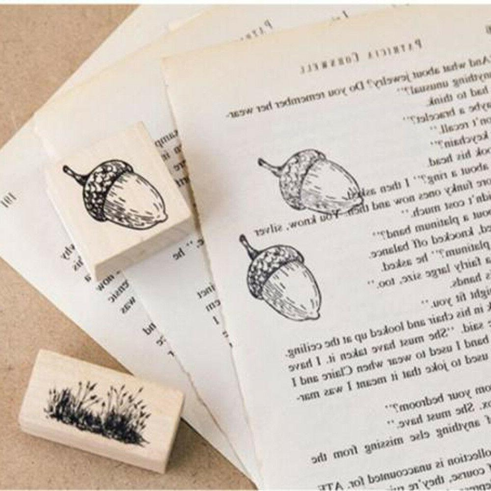 Animal Wooden Stamps Scrapbooking Stationery DIY Stamp