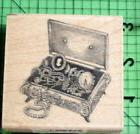 Antique Jewelry Box rubber stamp by Inkadinkado
