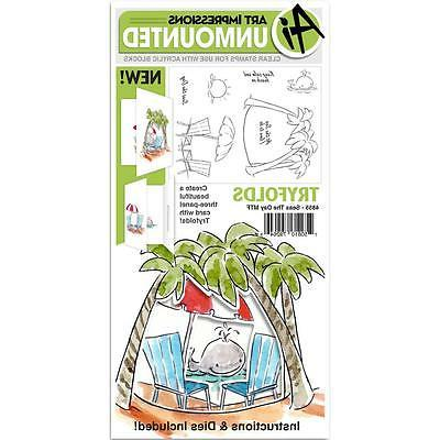 Beach Tryfolds Unmounted Stamp Set ART 4855