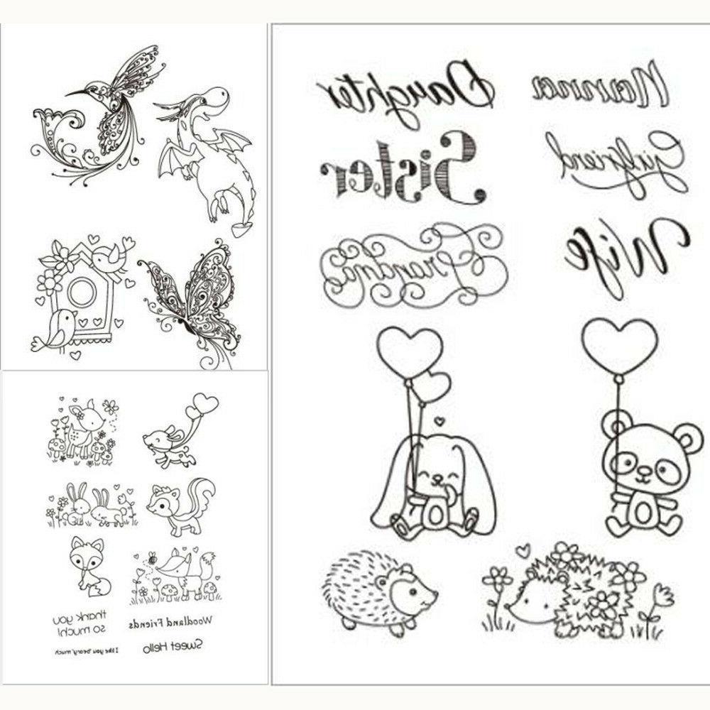bear clear transparent rubber stamps scrapbook paper