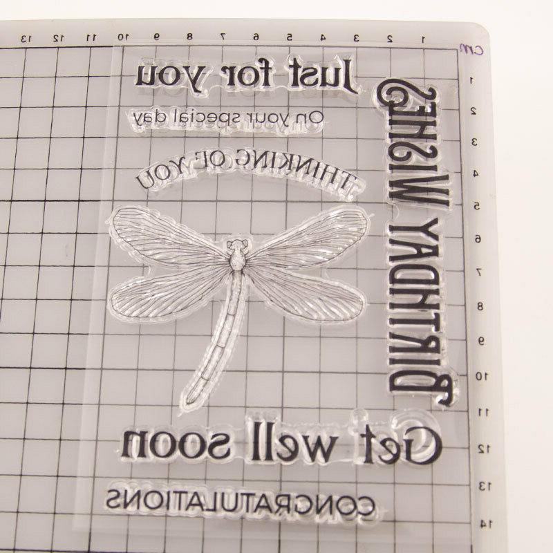 Birthday Wishes Silicone Stamp Transparent Rubber DIY Scrapbooking