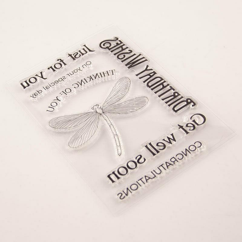 Birthday Wishes Silicone Stamp Transparent Rubber DIY