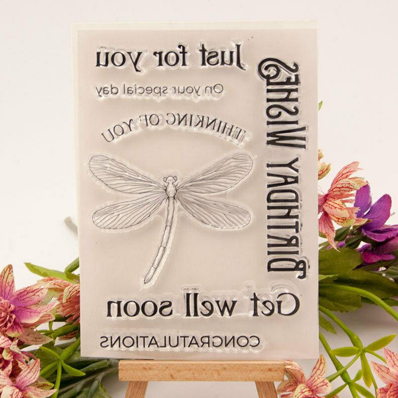birthday wishes silicone clear stamp transparent rubber