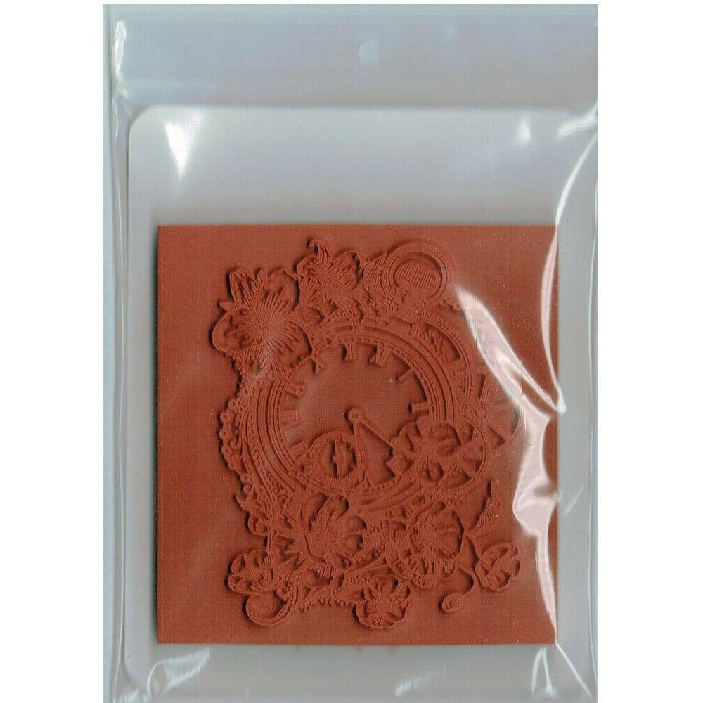 Deep Red Stamps Time Rubber Cling