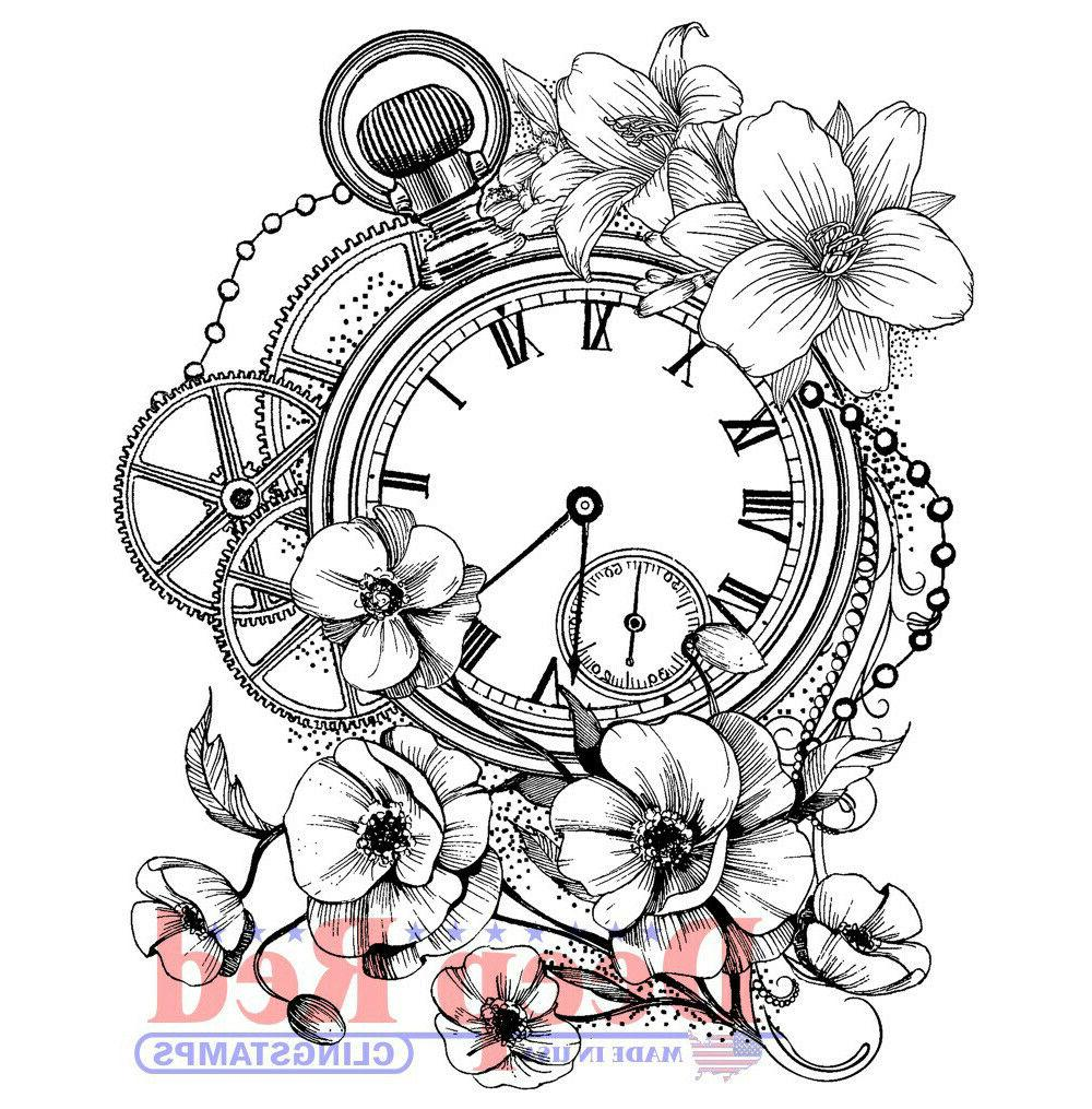 blossom time rubber cling stamp
