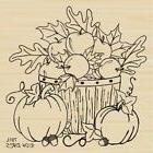 Bountiful Basket Rubber Stamp By DRS Designs
