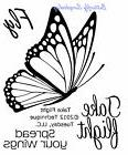 BUTTERFLY Small Stamp Set Clear Unmounted Rubber Stamps TECH
