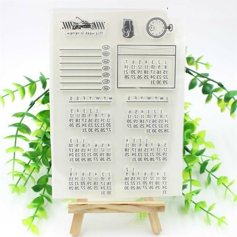 Calendar Transparent Rubber Stamp Seal Paper Craft Scrapbook