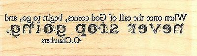 Call Of God Text, Wood Mounted Rubber Stamp IMPRESSION OBSES
