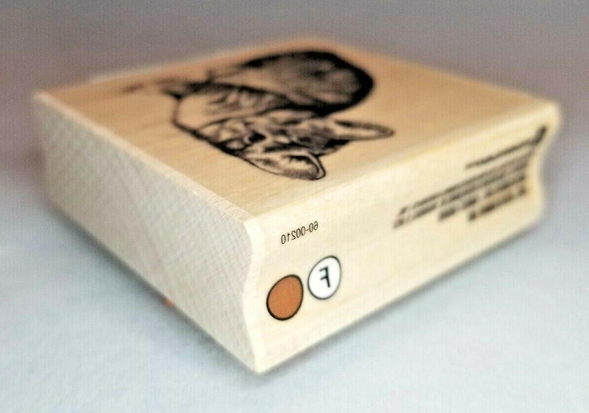 "Inkadinkado Kitten Rubber Stamp 2.25"" x 2.25"""