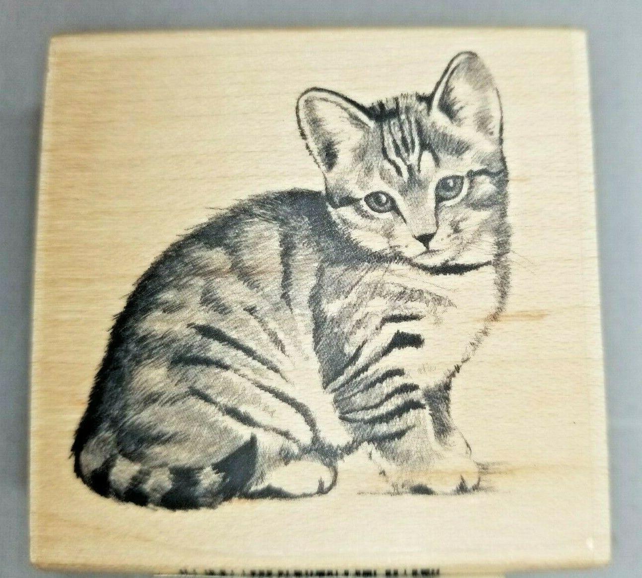 "Inkadinkado Cat Rubber 2.25"""