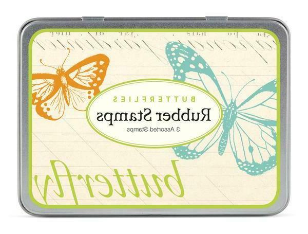 cavallini and co butterfly rubber stamp set