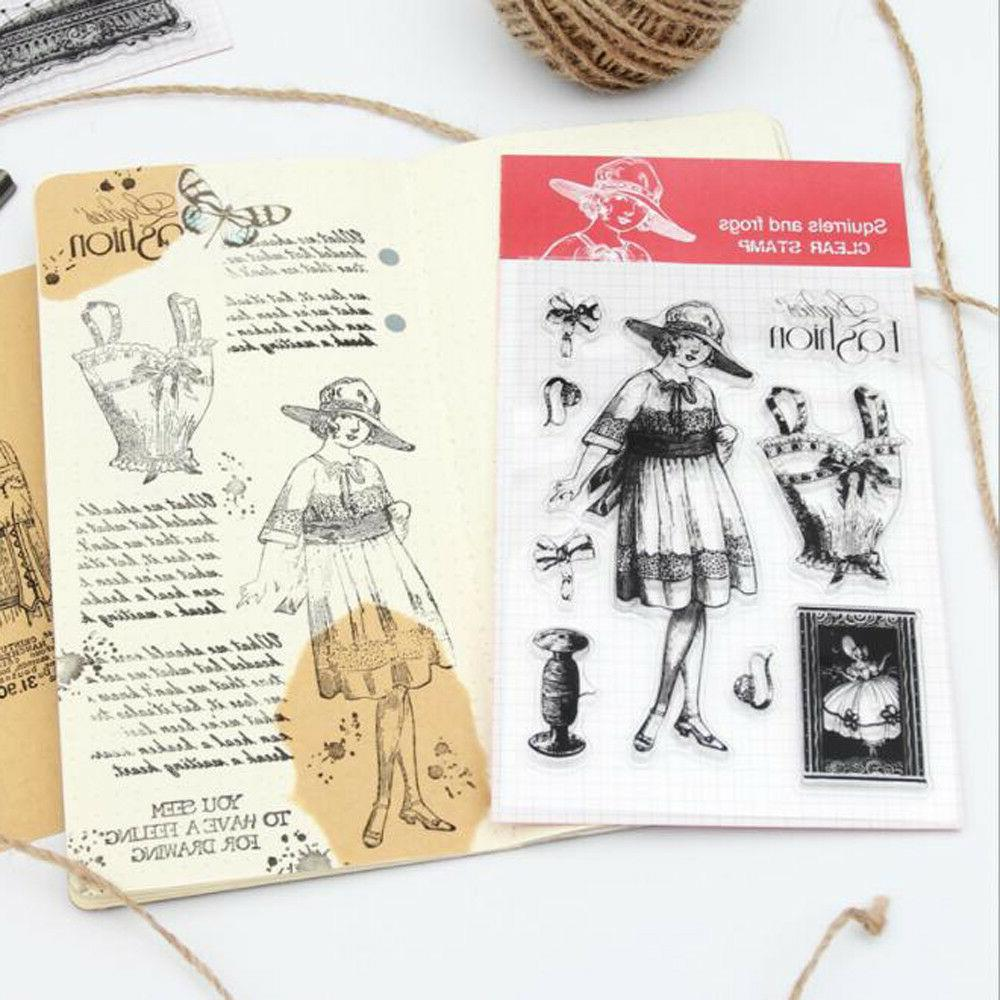 Character Stamps Scrapbook Clear stamp scrapbooking