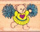 Hero Arts~CHEERLEADER~TEDDY CHEER BEAR~D 254~Wood Mounted Ru