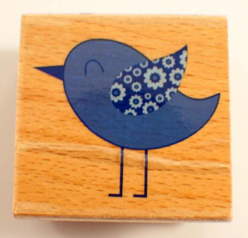 chic chick blue bird owl hampton art