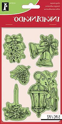 Inkadinkado Christmas Cling Stamps 4X6 Sheet-Christmas Class