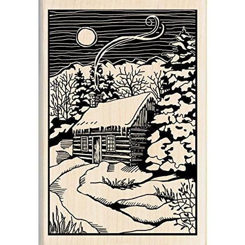 christmas mounted rubber stamp winter