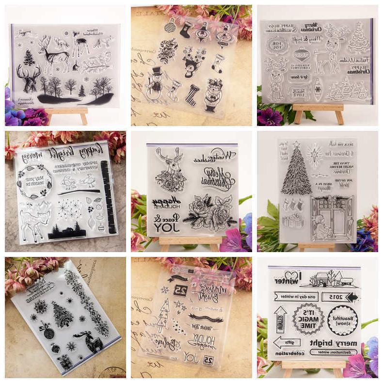 Christmas Transparent Stamps Scrapbooking Craft