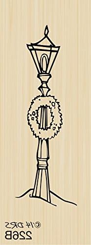 Christmas Village Lamp Post Rubber Stamp By DRS Designs