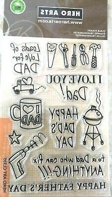 Hero Arts CL335 Happy Dad's Day Stamp Set, Clear