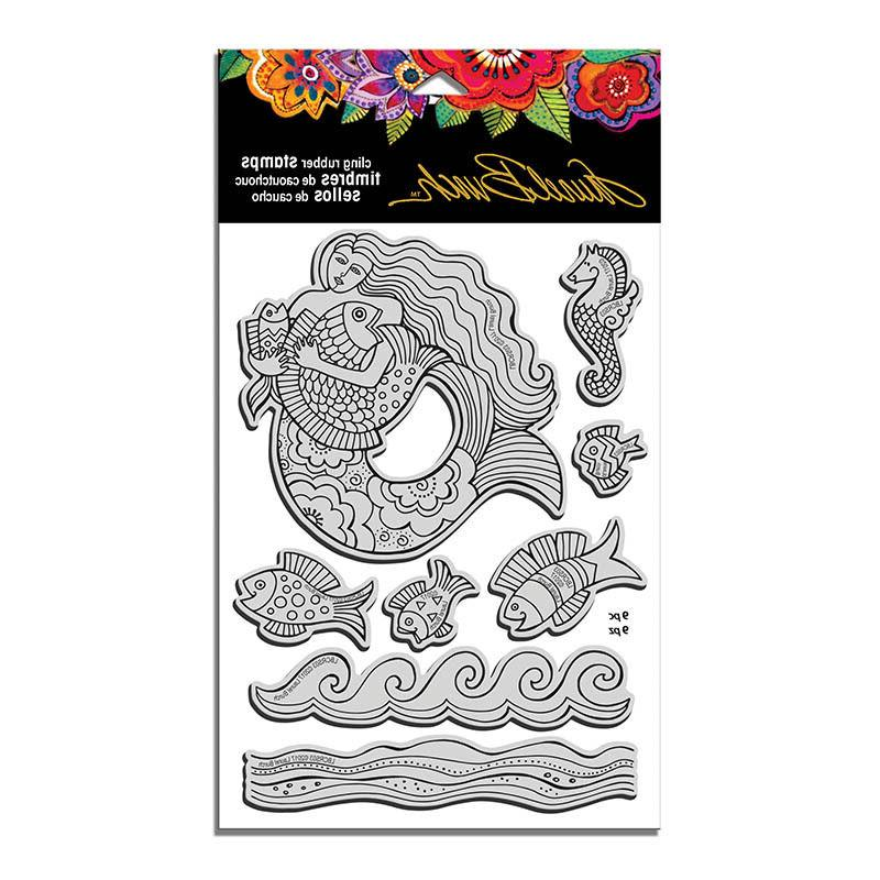 LAUREL BURCH RUBBER STAMPS CLING MERMAID FISH NEW cling STAM