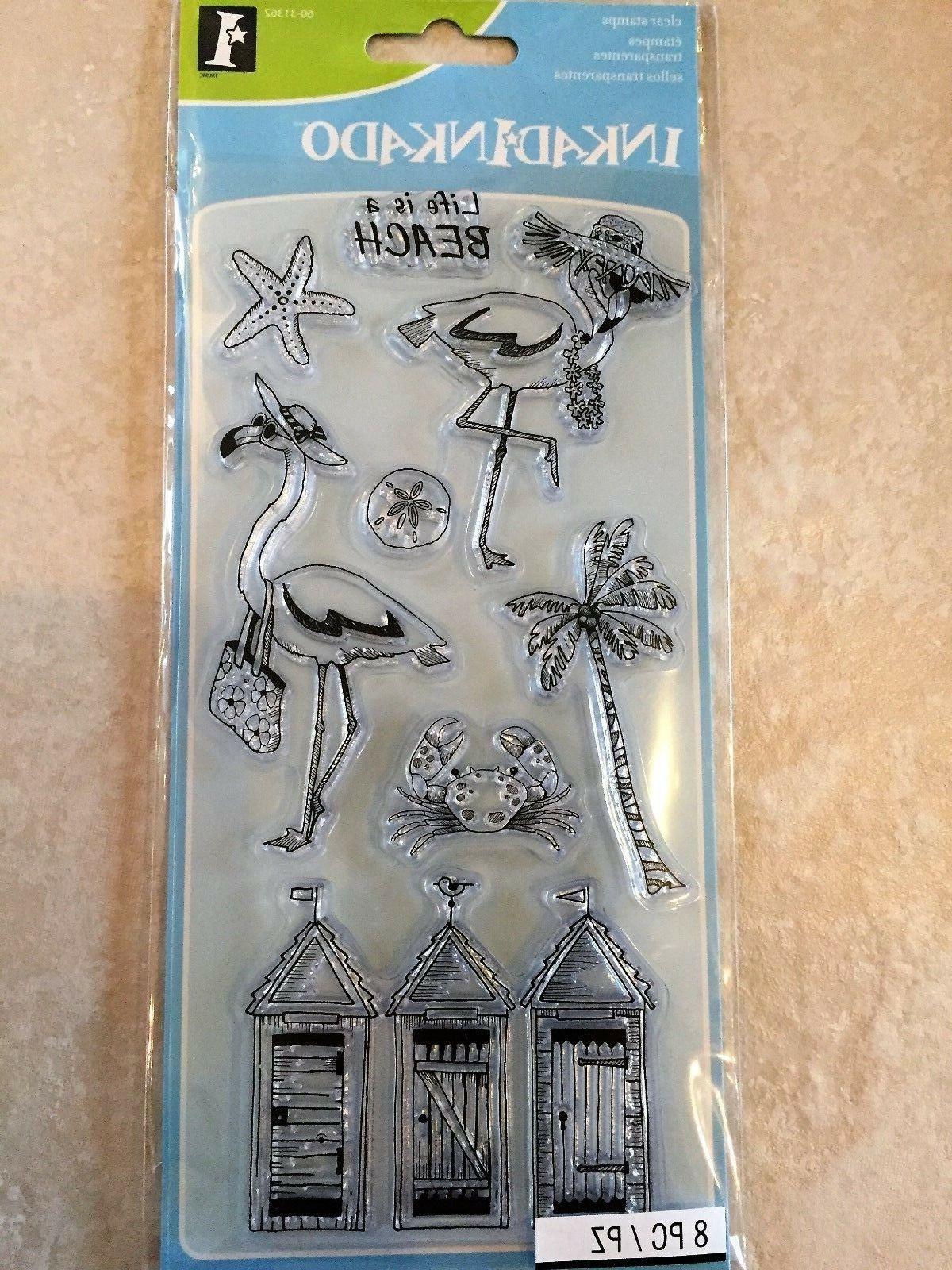 Inkadinkado Clear Stamps - Flamingo Fun  #1281