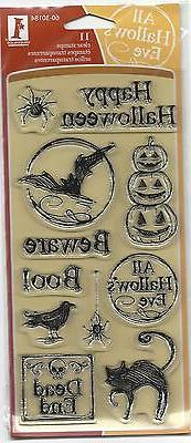 Inkadinkado Clear Stamps MARKER SKETCH HALLOWEEN 11 Pc Set 6