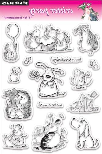 Penny Black Clear Stamps 5X7.5 Sheet-Critter Party