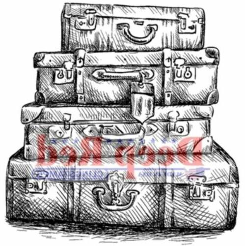 Deep Red Cling Stamp 2X2-Luggage