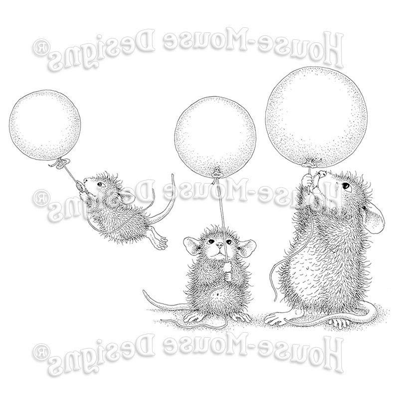 Stampendous cling stamp - BALLOON