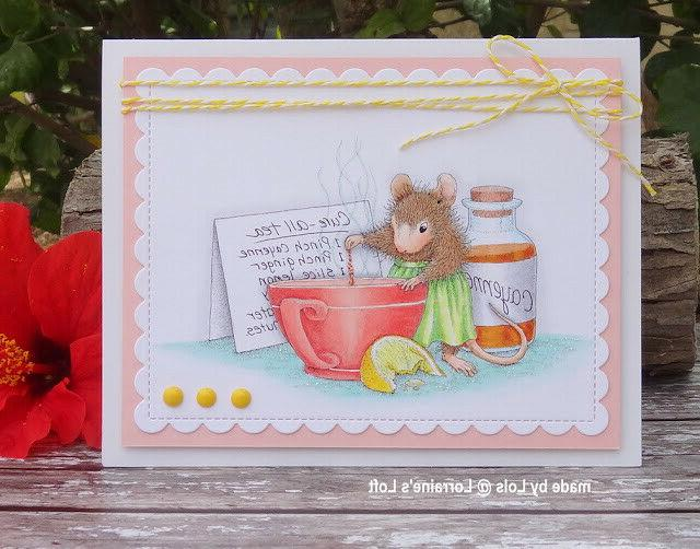 Stampendous mounted rubber stamp - ALL TEA