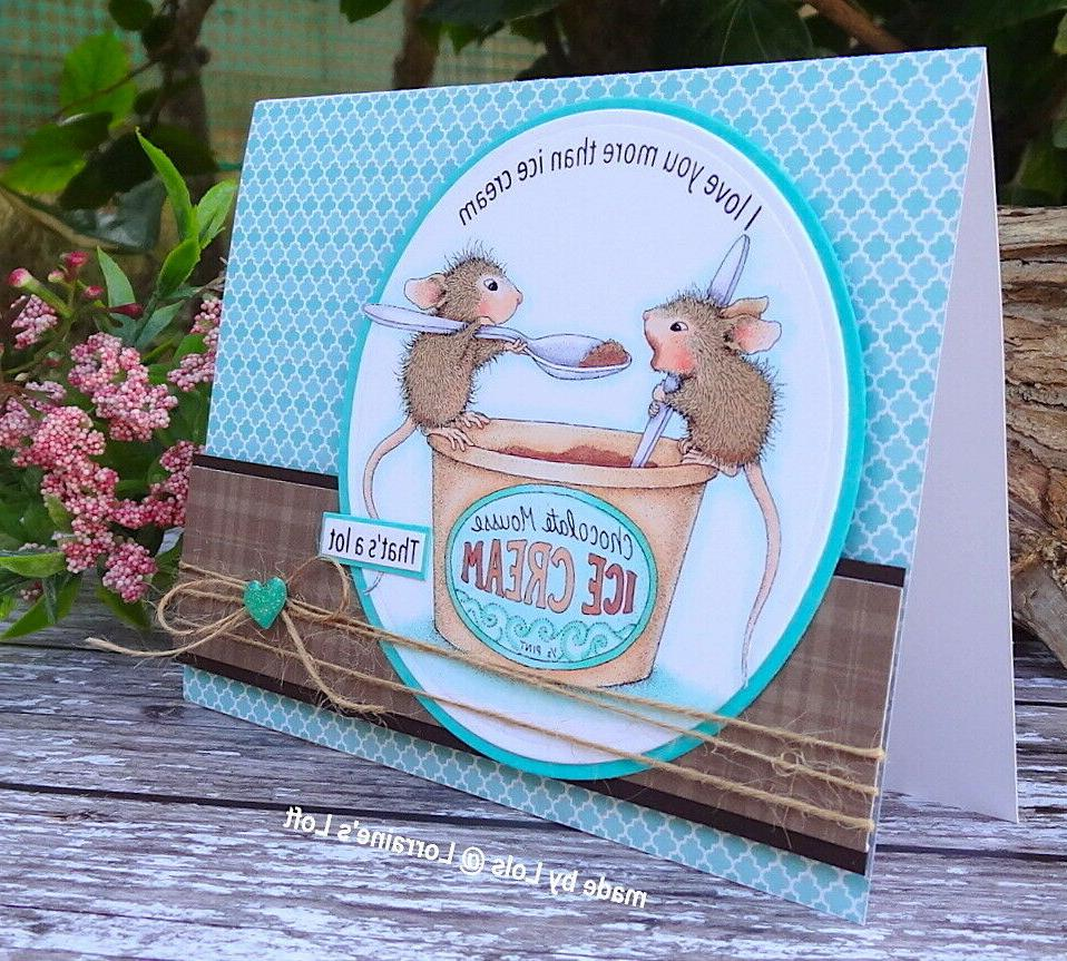 cling mounted rubber stamp house mouse mousse