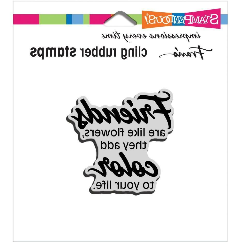 cling rubber stamp friends add color