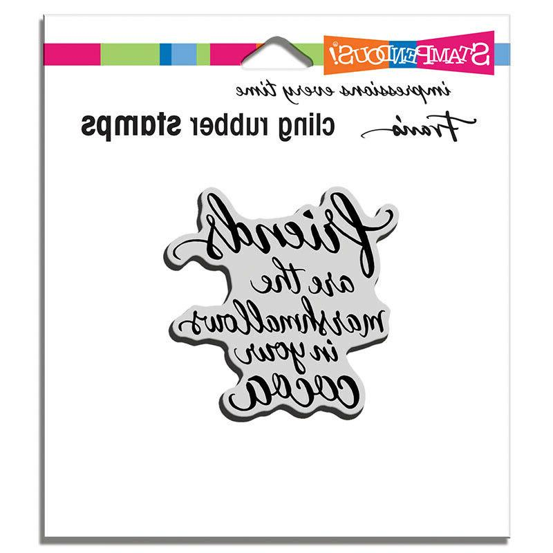 cling rubber stamp set marshmallow friends