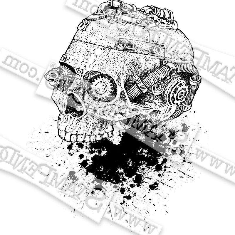 Stampendous Steampunk Skull Halloween