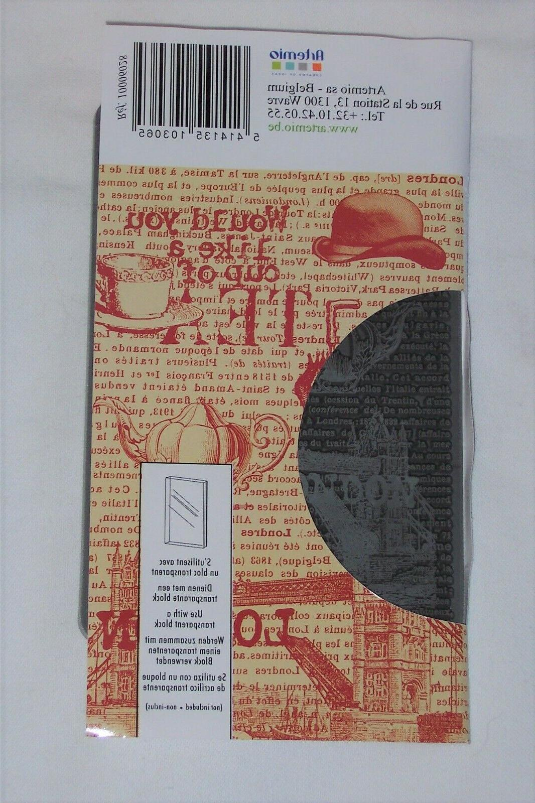 cling stamps london w text