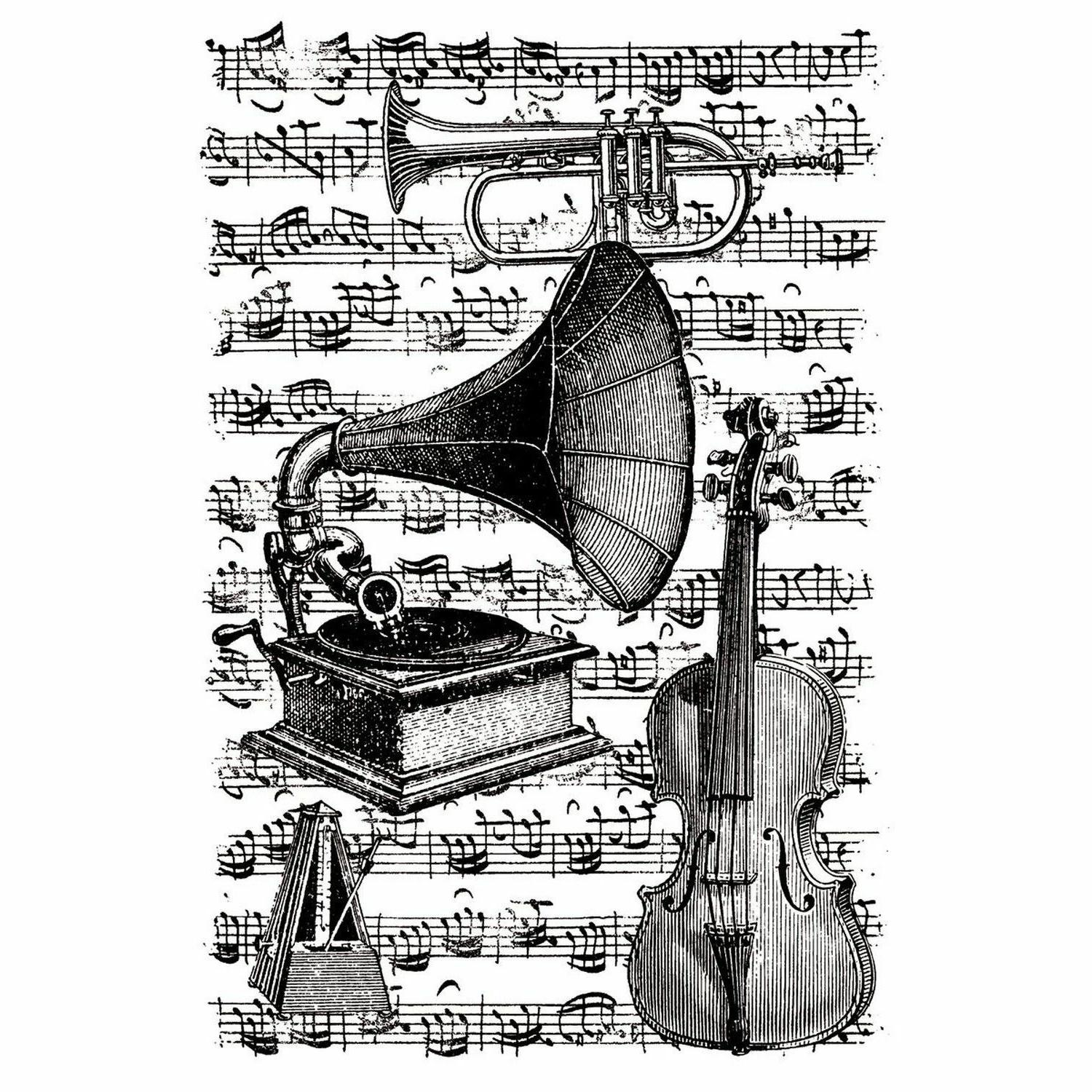 cling stamps musical instruments w