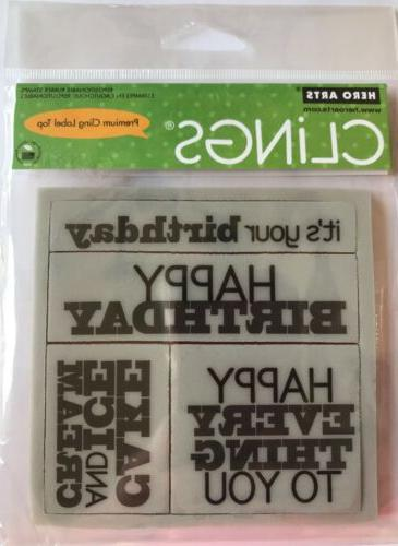 Hero Arts Clings Birthday #CG275 Rubber Stamps *New*