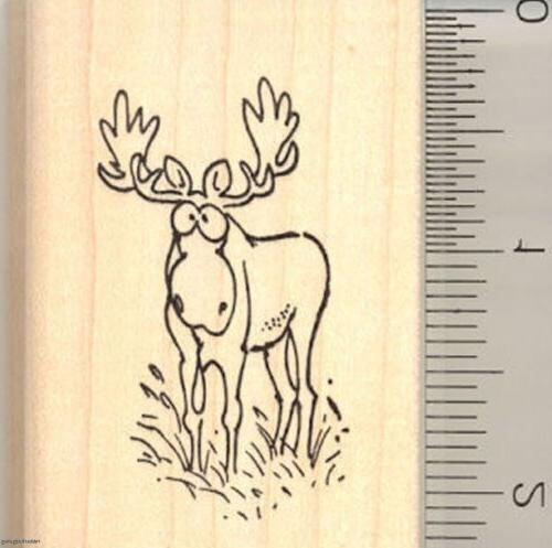 comic moose rubber stamp g10915 wm