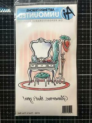 Art Impressions Cottage Cling Rubber Stamp Set 7X4-That's Yo