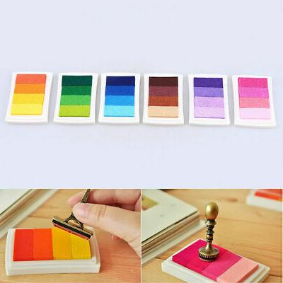Craft Multi Colors Ink Pad Oil For Rubber Stamp Paper Wood F
