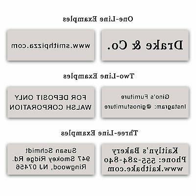 Custom Self Stamp 3 - 5cc
