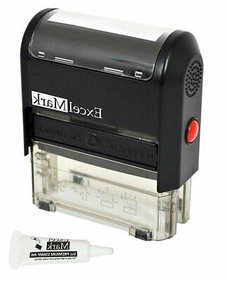 custom self inking rubber stamp 3 lines
