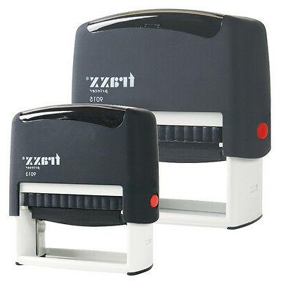 Custom Self Inking Rubber Stamp Traxx 9012 4 lines  USA SELL
